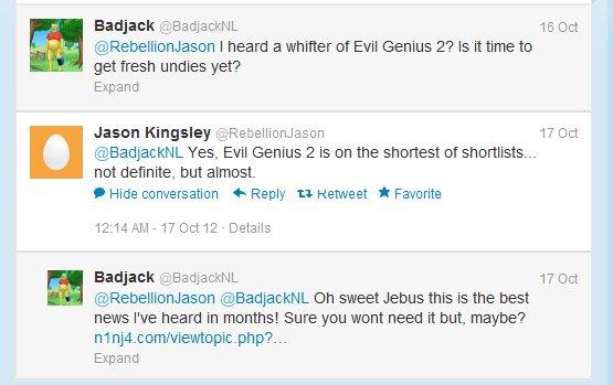 Evil Genius 2 will happen