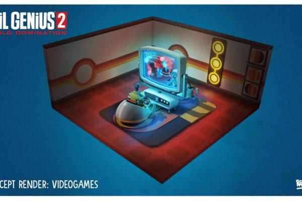 EG2 Videogames Room Concept Art