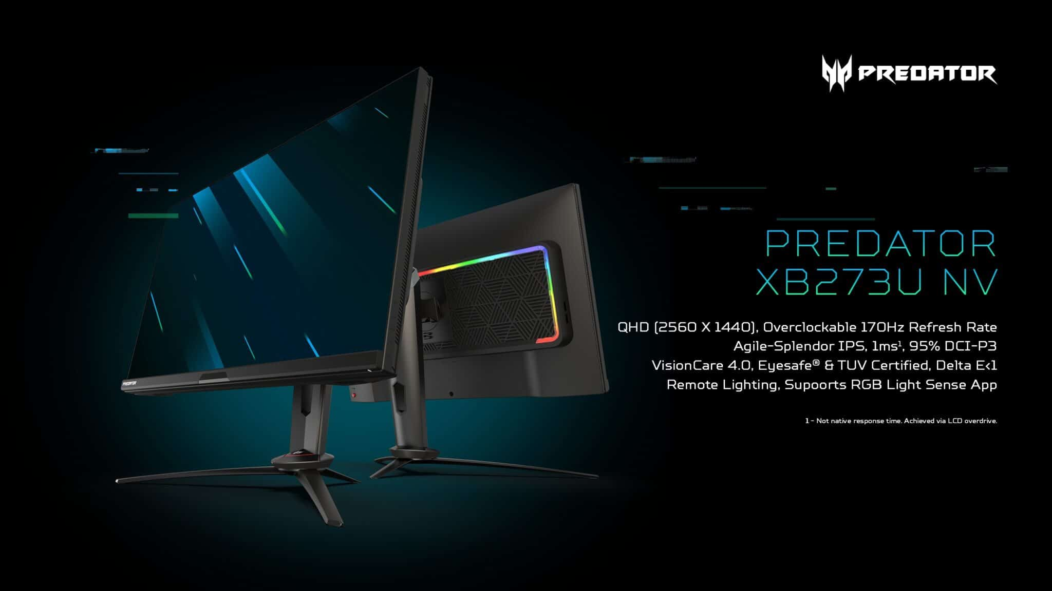 Acer Unveils Newest Gaming Monitors