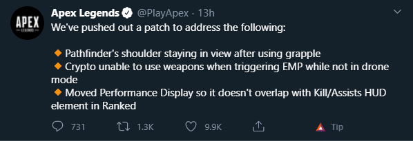 Apex Legend Patches