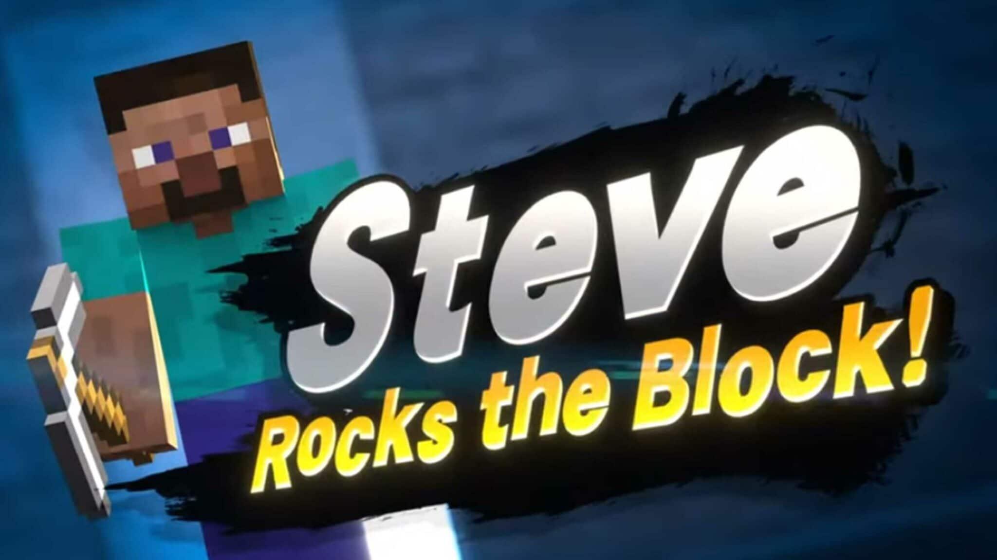 Minecraft Steve Joins Super Smash Bros. Ultimate