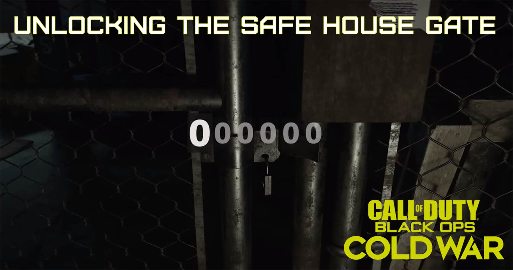 How to Unlock the Safe House Gate in Call of Duty Black Ops Cold War
