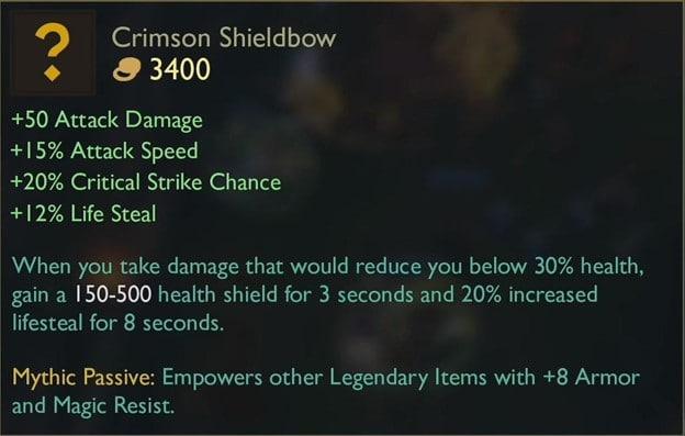 Crimson Sheildbow LOL