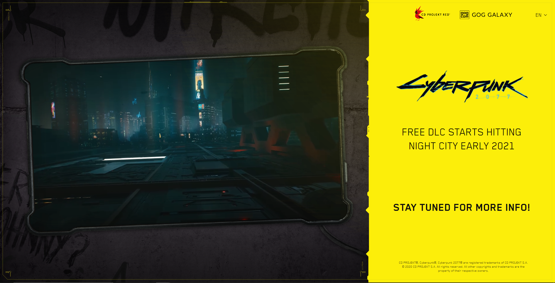 Don't Expect Cyberpunk 2077's Free DLC To Release Anytime Soon